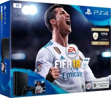 Игровая консоль SONY PlayStation 4 1Tb + FIFA 18 + PS Plus 14 дней (CUH-2108B)